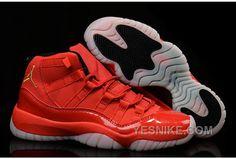 The Cheapest Nike Air Jordan 11 Low All Red Custom