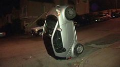 Urban cow tipping (Smart car tipping in San Francisco)