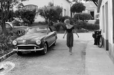 #BrigitteBardot - #Simca - #Aronde - #ArondeWeekEnd in #SaintTropez by #EdwardQuinn circa 1960's ---