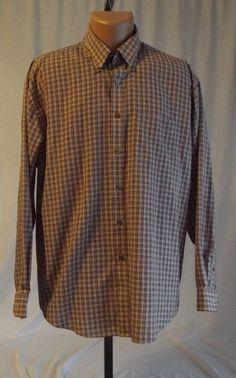 Wrinkle Free Stain Shield Van Heusen Large 16 16 1/2 Dress Shirt Long Sleeve #VanHeusen
