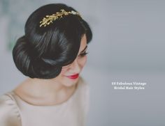 10 Vintage Wedding Hair Styles - Inspiration for a 1920s-1950s Wedding
