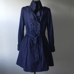 H&M Divided Trench This is a H&M divided trench in navy blue. Divided Jackets & Coats Trench Coats