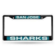 San Jose Sharks NHL Laser Cut Black License Plate Frame