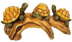 Moonrays 91515 Turtles on a Log Solar-Powered Outdoor LED Light - Outdoor Figurine Lights - Amazon.com