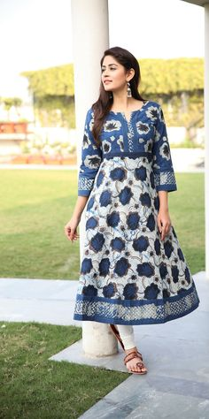 #LongKurta #Indigo #White #Printed #Anarkali #Floral #WinterFlorals #ContemporaryClassics #Chic #Earrings #Silver #Accessories #NewArrivals #JustIn #PickOfTheDay #InstaGood #FashionGram #WomensWear#WomensWear #Clothing #Apparel #Fabindia