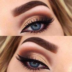 4) A Gorgeous Sunset | 15 Magical Eye Makeup Ideas; #MakeupLovers #Eye #MakeupIdea #makeuptips Dramatic Eye Makeup, Formal Makeup, Makeup For Brown Eyes, Eyebrow Makeup Tips, Basic Makeup, Eye Makeup Remover, Eyeshadow Makeup, Makeup Brushes, Smokey Eye Makeup