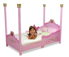 kidkraft 76121 princess toddler bed pink little girl - Girls Twin Bed Frame
