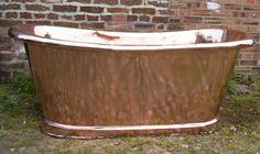 Antiques Atlas - French Copper Rolltop Bath