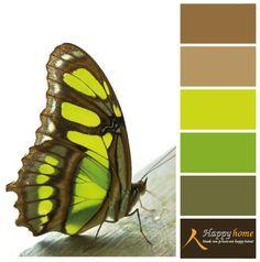 Kleurinspiratie van de woonwinkel Happy Home. Groen is een fantastische kleur voor in het interieur, het maakt een indruk. www.happy-at-home.nl