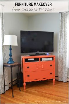 Furniture Makeover From Dresser To Tv Stand