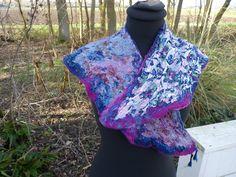 felted neckcollar from wool gevilte kraag van merino wol sjiek fancy door Werkenmetwol op Etsy