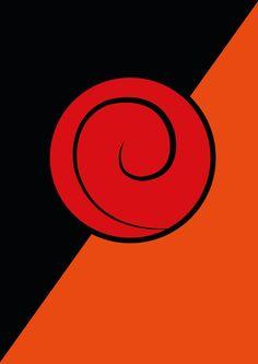 Naruto double poster Uzumaki & Uchiha clan symbols by MixPosters,