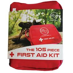 First Aid Kit  Emergency Survival Bag for Hiking Camping Travel Cars and Bug Out Bags  105 Pieces Small * More info could be found at the image url. (Note:Amazon affiliate link)