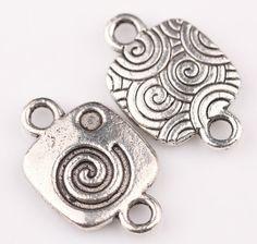 wholesale 30 pcs alloy Tibetan silver skirt charms pendant  19x12mm
