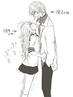perso je fais plusoum 160cm et le mec dont je suis in love fait 183cm.... ça passe non ?