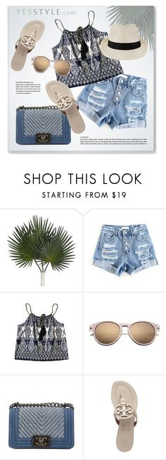 """""""YESSTYLE.com"""" by monmondefou ❤ liked on Polyvore featuring Chanel, Tory Burch, Melissa Odabash and yesstyle"""