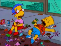 Bart and Milhouse Cartoon Memes, Cartoon Pics, Cartoons, Futurama, Cartoon Profile Pictures, Vintage Cartoon, Over Dose, Mellow Yellow, Reaction Pictures