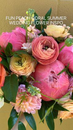Coral Wedding Flowers, Flower Bouquet Wedding, Floral Wedding, Wedding Colors, Wedding Styles, Wedding Ideas, Rose Flower Pictures, Dahlia Bouquet, Beautiful Roses
