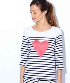 Striped pyjama top - CONQUETE - BLUE / WHITE / RED - Etam
