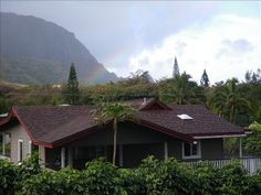 view of house and back mountains