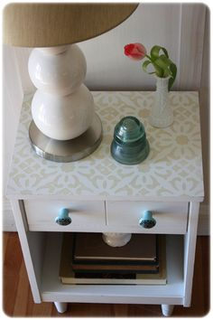 20 Creative DIY Furniture Projects (wall paper on top? - paint and new hardware) DIY