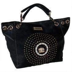 Betty Boop , Damen Schultertasche Schwarz Schwarz #handbag #women #covetme #bettyboop