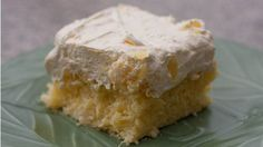 Pineapple Dream Cake ~ An easy pineapple cake, made with a cake mix, vanilla pudding, pineapple, and whipped topping or Dream Whip topping.