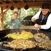 Silver Dollar City LUMBERCAMP FALLS HARVEST SKILLET by Tom