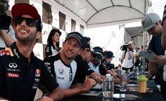 Jenson during autograph session. Canada GP 2015