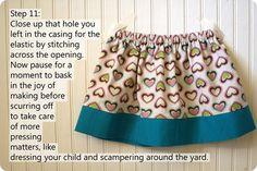 Easy kids skirt
