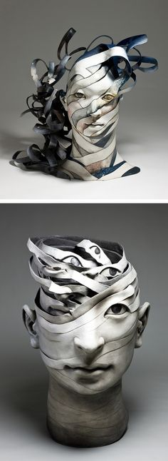 Ceramic sculptures by Haejin Lee // modern sculpture // contemporary art // surreal ceramics