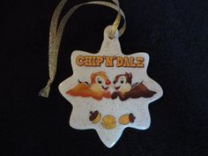 Disney Chip & Dale chipmunks Christmas by ImAsMADaSaHaTTeR on Etsy, $8.00