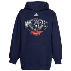 db9f06c56 adidas New Orleans Pelicans Youth Distressed Team Logo Hoodie - Navy Blue