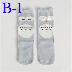 Retail Animal Panda Elephant Kids Socks Cartoon Totoro Fox Bear Infant Stocks 2016 Fashion Stripe Boys Girls Leg Warmers Sock