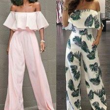 Mono enterizo pantalón largo con hombros descubiertos Fall Fashion Outfits, Trendy Outfits, Cute Outfits, Pants Pattern Free, Fashion Corner, Couture Sewing, Classy Casual, Casual Summer, Models
