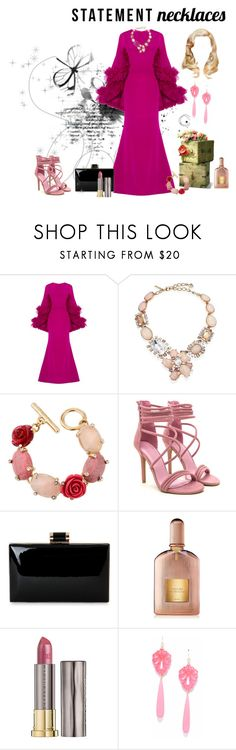 """Untitled #3375"" by empathetic ❤ liked on Polyvore featuring Christian Siriano, Oscar de la Renta, Tom Ford, Urban Decay and statementnecklaces"
