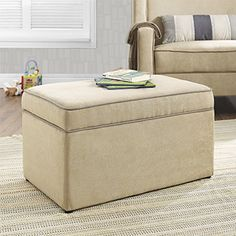 The Baby Relax Hadley Storage Ottoman for Baby Gliders is the answer, For a practical storage solution for your nursery or child's playroom. The ample storage s...