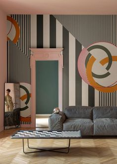 // CHERRY BOMB is a motif pop art wallpaper designed by Gio Pagani for Wall&Decò.