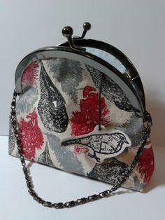 Evening bag, stamped fabric. Fresco paints,PaperArtsy stamps