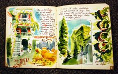 Beautiful sketch book of an Italian vacation.