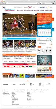 15th Asian Handball Clubs' Championship - Doha 2012 on Behance