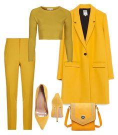 """""""Hot like Mustard"""" by falonstarrider on Polyvore featuring Zara, Pinko, Topshop, Jean-Michel Cazabat, Fabulous Age and ootd"""