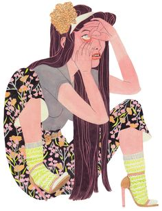 Rikka Sormunen (1987) es una ilustradora finesa de la que no circula demasiada informaciónEsta pintora e ilustradora estudió diseño de indumentaria en la Universidad de Arte y Diseño de su ciudad, cosa que se hace palpable en su trabajo, por el lujo de detalles con el que trabaja los atuendos. Para realizar sus ilustraciones utiliza básicamente lápices y acuarelas y su universo creativo gira alrededor de su visión sobre la mujer y lo relacionado con  lo femenino.