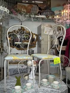 Ontario California Treasures And Junk Mall Chairs On Tables