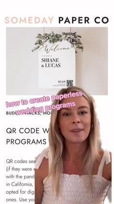 Using a QR code, create a paperless wedding program!