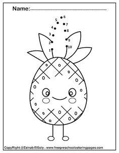 11 Best Kawaii Food Dot To Dot For Preschoolers Images Preschool