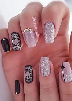 44 Stylish Manicure Ideas for 2019 Manicure: How to Do It Yourself at Home! Part 26 44 Stylish Manicure Ideas for 2019 Manicure: How to Do It Yourself at Home! Part manicure ideas; manicure ideas for short nails; Manicure Colors, Manicure Ideas, Nail Colors, Gel Manicures, Acrylic Nail Designs, Nail Art Designs, Acrylic Nails, Fun Nails, Pretty Nails