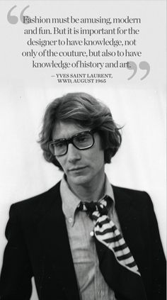 Yves Saint Laurent on 'What is Modern?'