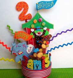 Carnival Circus Birthday cake topper Cupcake toppers