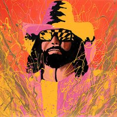 The Macho Man Randy Savage painting by Rob Schamberger  l #WWE
